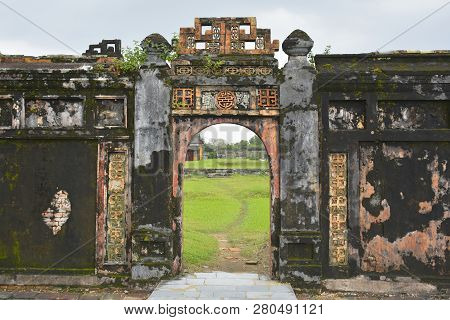 A Remaining Wall And Gateway On The Site Of The Now Destroyed Can Thanh Palace In The Imperial City,