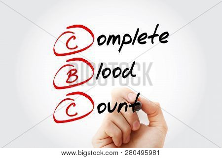 Cbc - Complete Blood Count Acronym With Marker, Concept Background