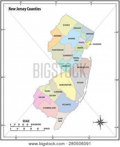 New Jersey State Vector & Photo (Free Trial) | Bigstock