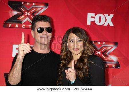 LOS ANGELES - DEC 19: LA Reid, Chris Rene, Nicole Scherzinger, Josh Krajcik, Paula Abdul, Simon Cowell, Melanie Amaro at the FOX's