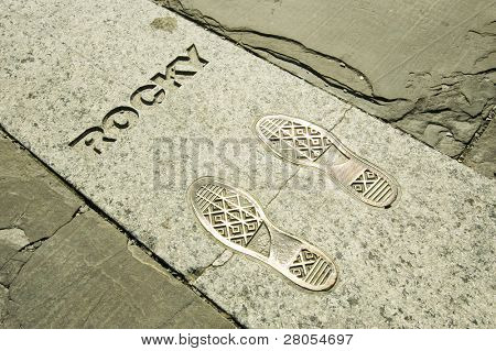 Rocky's footsteps at the Philadelphia Museum of Art