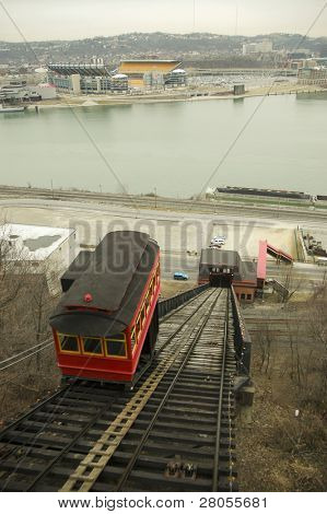 view of Heinz Field and Duquesne Incline