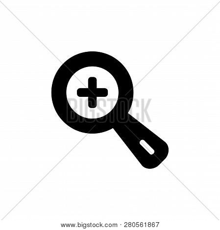 Zoom In Vector Icon Isolated On White Background. Zoom In Icon In Modern Design Style. Zoom In Vecto