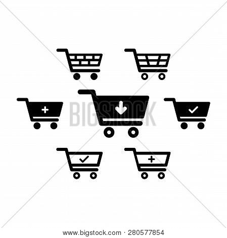 Shopping Cart Icon Set, Shopping Cart Icon, Shopping Cart, Business Icon, Web Icons, Trolley Icon, S