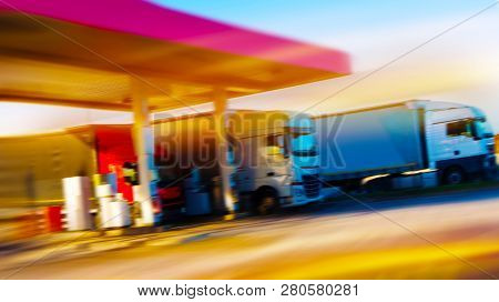 Europe. Filling Station . Gas Station . Europe. Filling Station . Gas Station