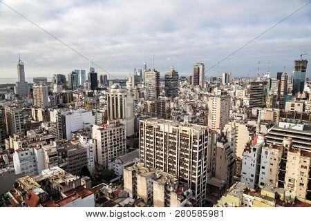 Buenos Aires Central Business District (microcentro, Barrio San Nicolás, La City) Skyscrapers Skylin