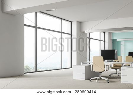 White And Blue Office Workplace