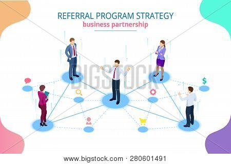 Isometric Referral Marketing, Network Marketing, Referral Program Strategy, Referring Friends, Busin