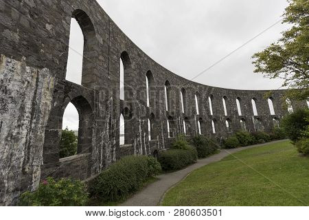 Mccaigs Tower Above The City Of Oban Scotland