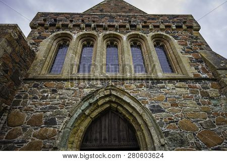 Iona Abbey Featuring Detail From Entrance To The Sanctuary