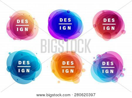 Creative Vector Illustration Of Colorful Round Abstract Banners. Graphic Banners Concept Vector Desi