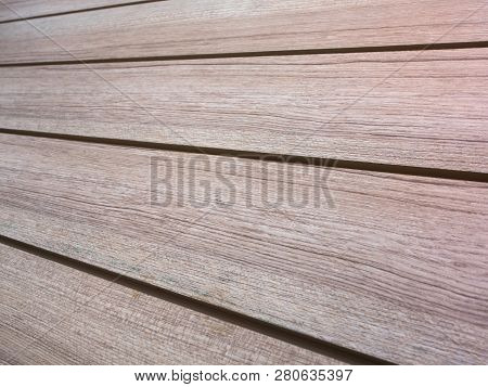 Surface Texture Of Artificial Wood Wall Made Of Plastic