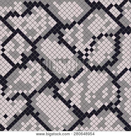 Snake Skin With The Pattern Lozenge Form. Vector Animal Print , Cobra, Skin, Pattern, Snakeskin, Pyt