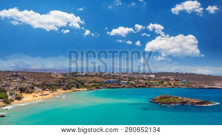 Kalathas beach, Crete Island, Greece. Kalatha is one of the best beaches in Creta poster