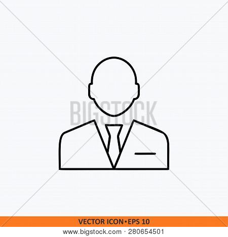 Manager Icon Sign Vector. Web Office Illustration.