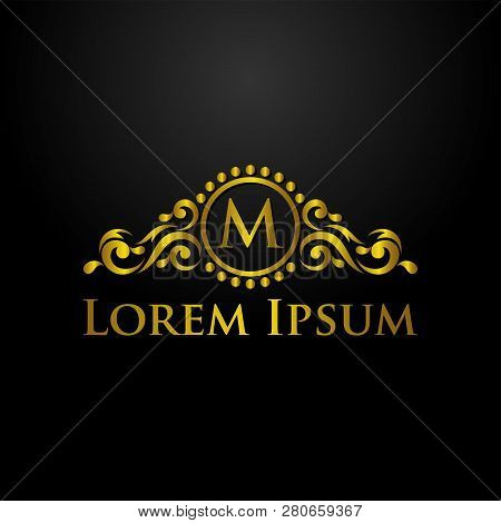 Luxury Logo, Letter M Logo, Classic And Elegant Logo Designs For Industry And Business, Interior Log