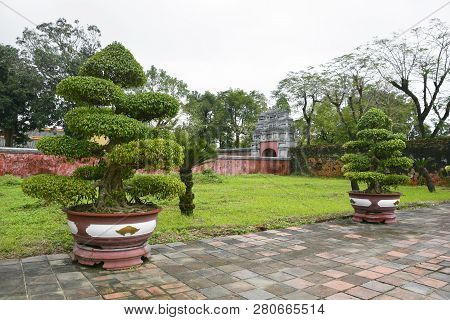 Grounds Within The Royal Theatre Complex In The Imperial City, Hue, Vietnam