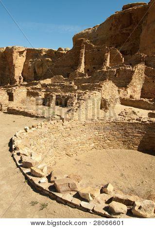 Pueblo Bonito ruins and kiva poster