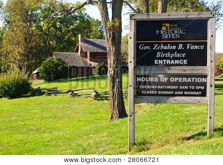 Zebulon Vance Birthplace State Historic Site poster