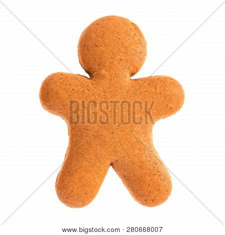 Baked Gingerbread From Shortbread In The Form Of A Little Man.