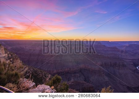 Grand Canyon Sunrise From Hermest Trail Point
