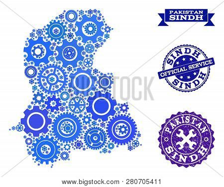 Map Sindh Province Vector & Photo (Free Trial) | Bigstock
