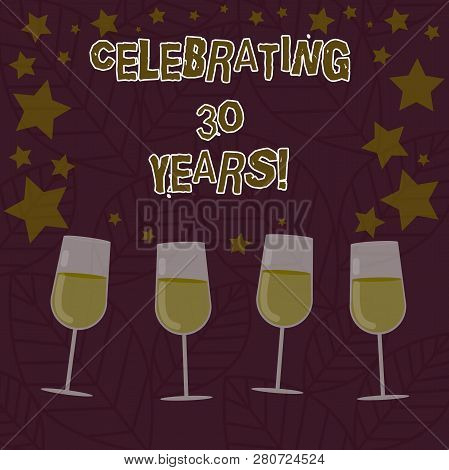 Conceptual Hand Writing Showing Celebrating 30 Years. Business Photo Text Commemorating A Special Da