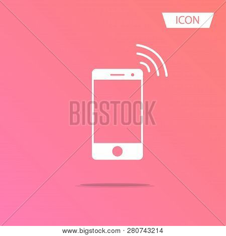 Wireless Icon Vector Mobile Phone Wireless Symbol Isolated On White Background.