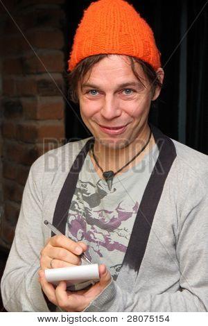 TOMSK, RUSSIA - FEBRUARY 23: Ilya Lagutenko - russian singer, frontman of pop-rock group