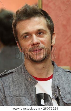 TOMSK, RUSSIA - JUNE 6: Maxim Postelniy - frontman of disco group
