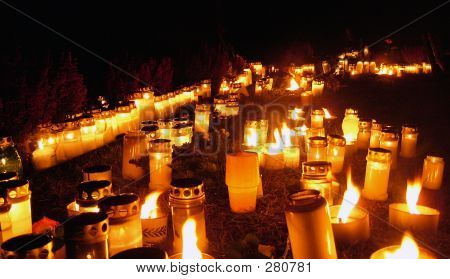 Candles On All Saints Day
