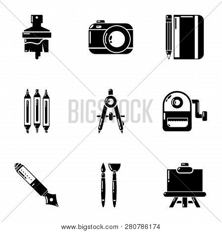 Brilliance Icons Set. Simple Set Of 9 Brilliance Icons For Web Isolated On White Background