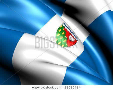 Flag Of Northwest Territories, Canada.