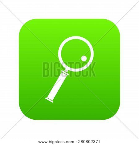 Loupe Icon Digital Green For Any Design Isolated On White Illustration