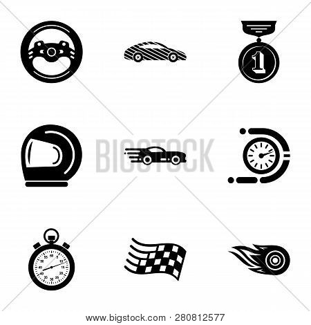 Ride Journey Icons Set. Simple Set Of 9 Ride Journey Icons For Web Isolated On White Background