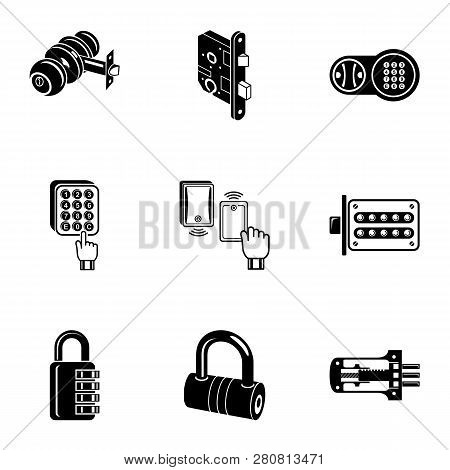 Cipher Icons Set. Simple Set Of 9 Cipher Icons For Web Isolated On White Background