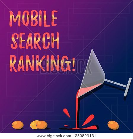 Handwriting Text Mobile Search Ranking. Concept Meaning Website Or Page Is Ranked Within Search Engi