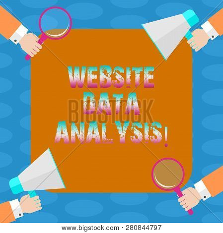 Word Writing Text Website Data Analysis. Business Concept For Analysis And Report Of Web Data For En