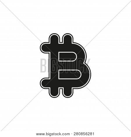 Bit Coin Icon, Vector Currency Sign, Bitcoin. Flat Pictogram - Simple Icon