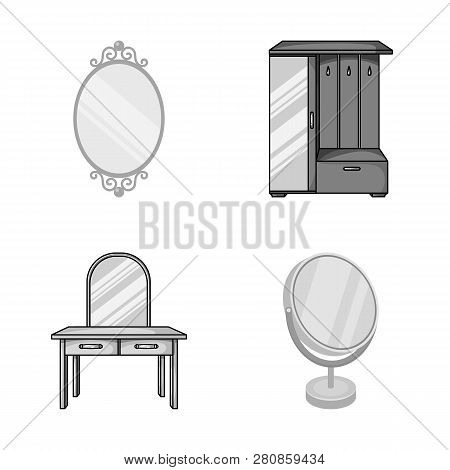 Vector Design Of  And Imagery Icon. Set Of  And Reflection Stock Symbol For Web.