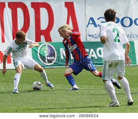 MOSCOW - MAY 10: CSKA's Milos Krasic (C) in action during their team's Russian football championship game CSKA (Moscow) vs. Terek (Grozny) - (4:1), May 10, 2010 in Moscow, Russia.