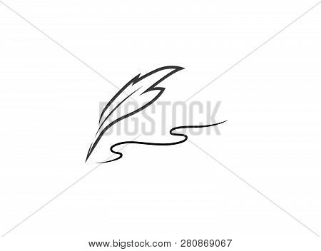 Plume Write With A Quill Logo Design