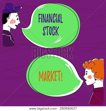 Text Sign Showing Financial Stock Market. Conceptual Photo Showing Trade Financial Securities And De