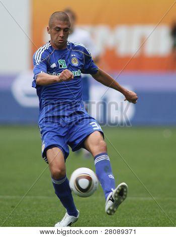 MOSCOW - JULY 3: Dynamo Kyiv's defender Evgeniy Hacheridi in the VTB Lev Yashin Cup: FC Dynamo Moscow vs. FC Dynamo Kyiv (2:0), July 3, 2010 in Moscow, Russia.
