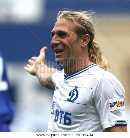 MOSCOW - JULY 3: Dynamo Moscow's forward Andrei Voronin in the VTB Lev Yashin Cup: FC Dynamo Moscow vs. FC Dynamo Kyiv (2:0), July 3, 2010 in Moscow, Russia.