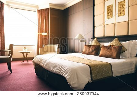 Hotel Luxury Room With The Modern Interior.