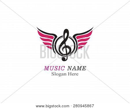 Music Note Illustration Icon Vector Template
