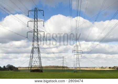 ナショナル グリッド鉄塔や送電線