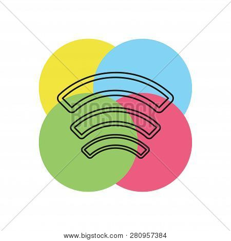 Wireless And Wifi Icons. Wireless Network Symbol. Wireless And Wifi Vector. Thin Line Pictogram - Ou