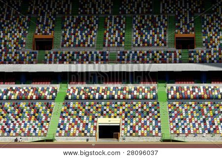 detail of a soccer stadium in portugal